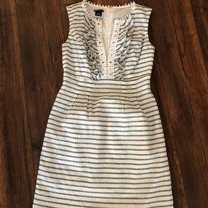 New directions striped dress v neck size 4